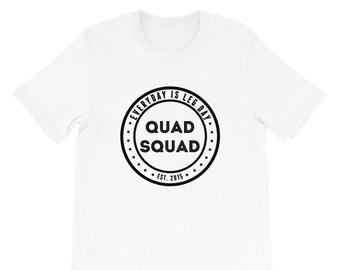 Quad Squad White Tee