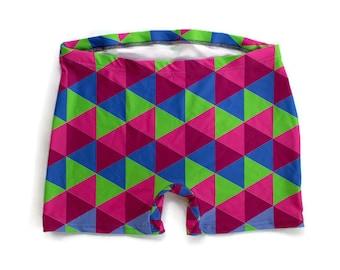 It's Geometric Spandex Shorts (Unisex)