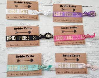 9cbb4a18b3 Bride Tribe Elastic Hair Tie / Wrist Band / Hen party Favour