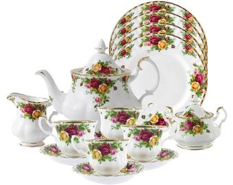 Royal Albert. Old Country Roses teaset. 15 piece.