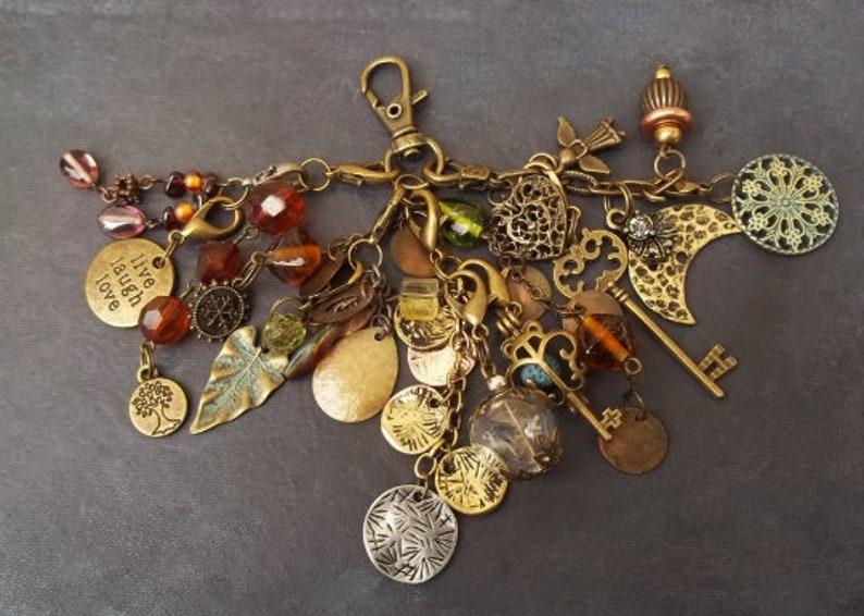 oil diffuser jewelry aromatherapy leaf dandelion terrarium beads tree of life moon heart boho jewelry bag charm tassel keychain locket key
