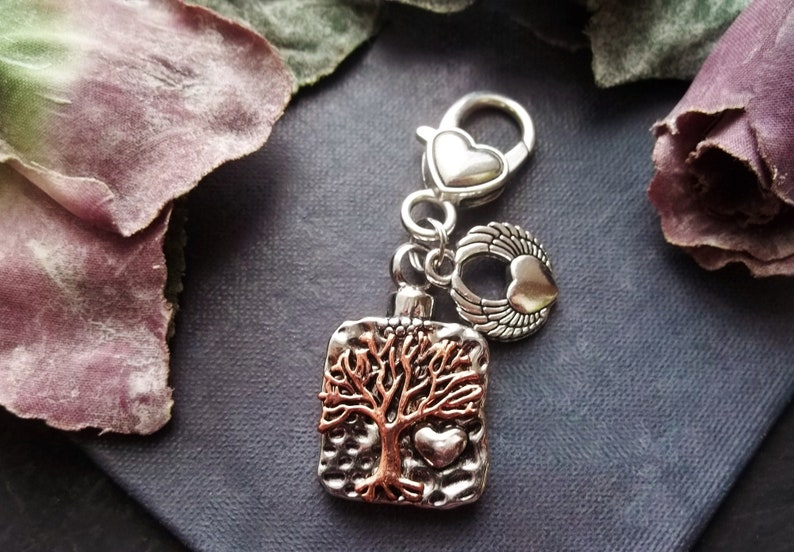 Tree Of Life Cremation Jewelry Urn For Human Ashes Locket Memorial Women Rose Gold Urn Stainless Steel Angel Wing Keychain Heart Pendant