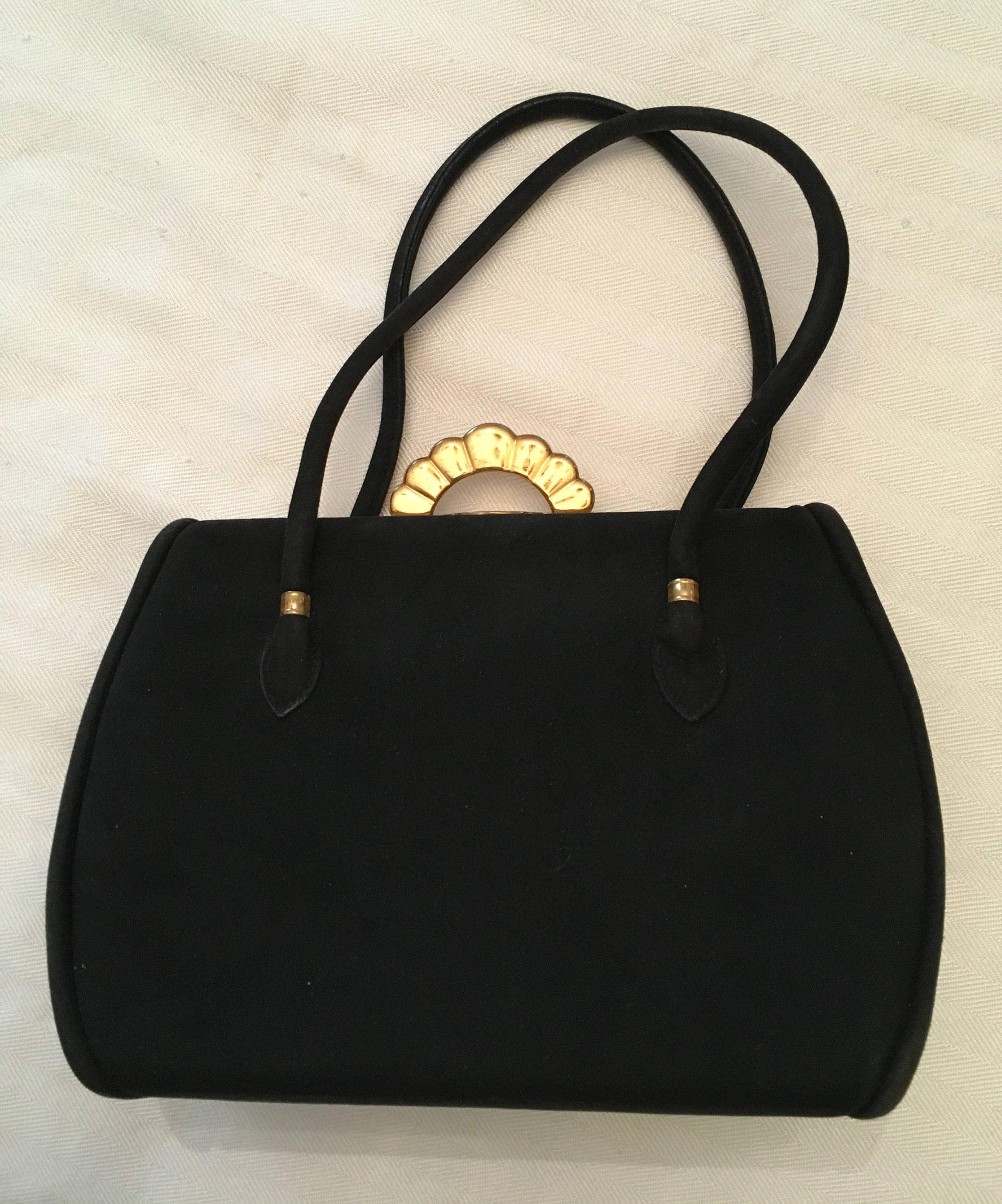e49a75d2cb58 Black Suede Bag – Hanna Oaks