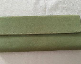 Green Fabric Clutch