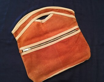 Sarne Brown Suede Bag
