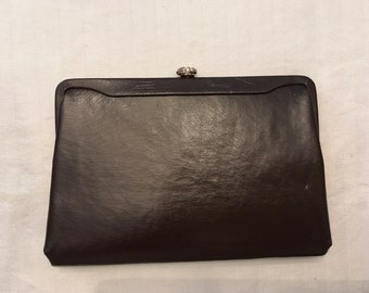 Vintage Brown Faux Leather Clutch