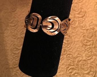 Vintage Brass Colored Link Bracelet