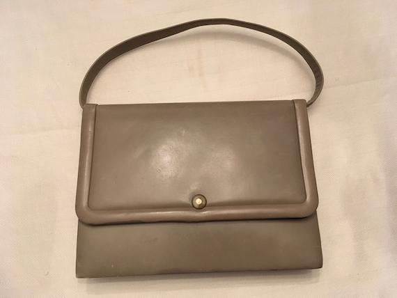 Dorian Taupe Top Handle Bag