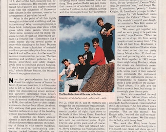 1989 Fresh Faces From Beantown New Kids On The Block Vintage Photo Print 1/2 Page Article