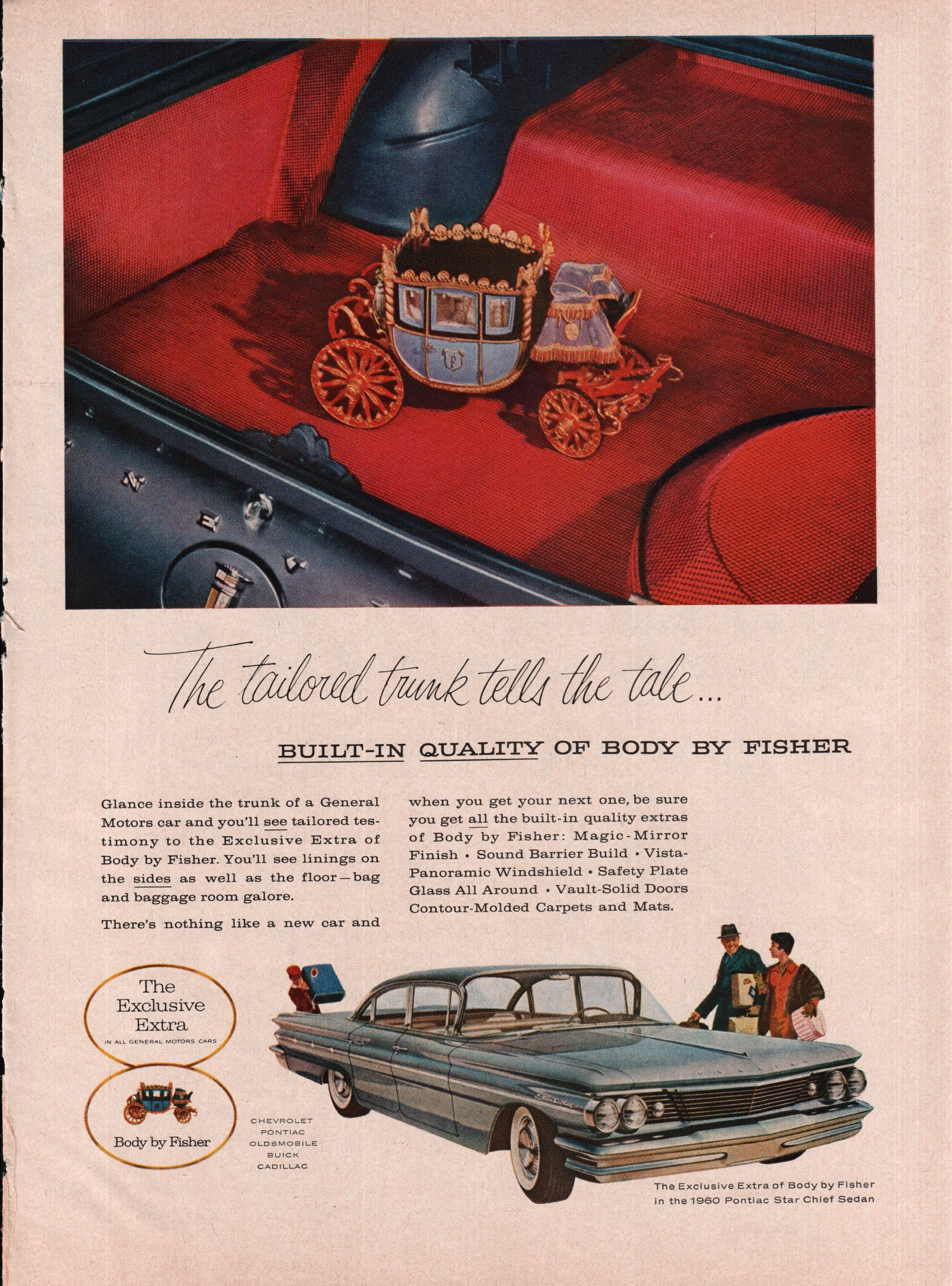 1960 Body By Fisher Pontiac Star Chief Sedan Vintage Color Art Etsy 1954 Zoom