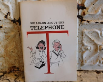 Bell System School We Learn About the Telephone Booklet - 1964, teacher, parent, Ma Bell, communications, technology, vintage, retro