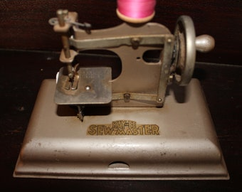 KAYanEE Sew Master Child's Sewing Machine 1950s Toy, Farmhouse, Home, Sew, Vintage, Retro, Old, Spool