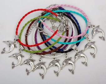 Beautiful Dolphin Charm Bracelet