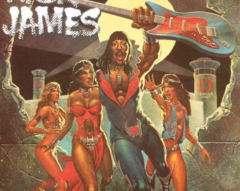 Rick James Framded vinyl - Bustin' Out Of L Seven 1979