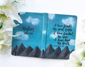Custom Hand Painted Journal/Notebook