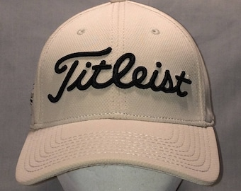 7858fba5a99 Titleist Golf New Era Baseball Cap Vintage Golfing Hats Stretch Fit M L  Beige Black Dad Hat Gift Sports Ball Caps For Men T109 F8111