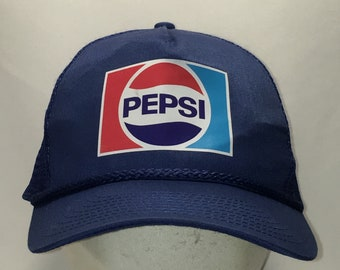 2453978ad71 Pepsi Hat Vintage Snapback Hats For Men Blue Mesh Back Trucker Hat Coke  Soft Drink Logo Dad Baseball Caps T52 F9094