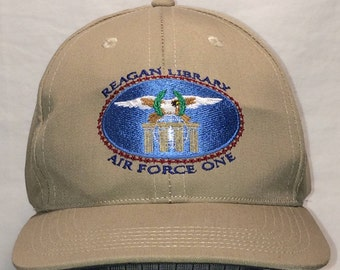 Vintage Reagan Library Air Force One Strapback Baseball Cap Hat Naval Navy  Command Caps Hats Made In USA T2 D7091. BaseballCapsAndHats 5 out of ... 46d6f02c93e5
