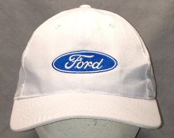 b6f3513a2f2 Vintage Baseball Cap Hats For Men White Blue Ford Car Dealer Logo Ball Cap  Cool Dad Cap Lightweight Fishing Hat T1 A8143