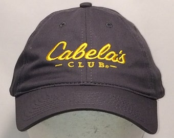 a945103156a6e Cabelas Club Strapback Hat Fishing Hunting Boating Camping Shooting  Outdoors Hats For Men Gray Gold Baseball Cap Dad Gift T70 M8081