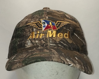 online store 83553 35047 Vintage AirMed Realtree Camo Baseball Cap Mens Caps Hats Aircraft  Helicopters Airplanes Medical Dad Hat Unique Gifts For Men T91 M9092