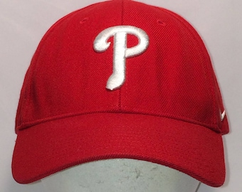 28d258336a2 Vintage Hats Philadelphia Phillies MLB Baseball Cap Nike Swoosh Hat Letter  P Wool Blend Red White Ball Cap Cool Dad Hats For Men T109 F8115