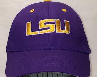 4a6b084c3fc Vintage LSU Tigers Football NCAA College Louisiana State University Hat T91  N7206