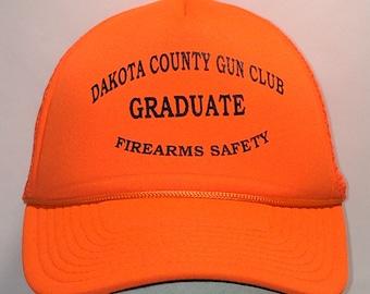 bfb94baec45 Vintage Trucker Hat For Women Men Snapback Truckers Caps Hats Orange Black  Ball Cap Dakota Country Gun Club Hats Graduate Hat T64 A8095