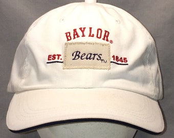 buy popular ac12f 2237c Vintage Baylor Bears Strapback Hat College Caps White Red Blue Baseball Cap  Hat Baylor University Sports Hats For Men Dad Hat T115 MA8212