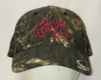 349e71663ad1e Vintage Mossy Oak Camo Hat Green Brown Camouflage Baseball Cap Rudys Dad  Caps Hunting Hats For Men Fathers Day Gifts For Husband T47 MA9059