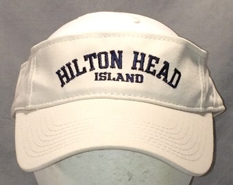 901b431c53d0c Vintage Hilton Head Island Golf Sun Visor Hat Beige Black Beach Baseball  Cap Hats For Men Fishing Hat Outdoor Sports Visors Caps T113 MA8159