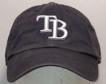 Vintage Tampa Bay Devil Rays MLB Baseball Caps TB Rays Strapback Hat Blue  White Unstructured Low Profile Cotton Ball Cap Dad Hats T28 A8053 11f3015572a5