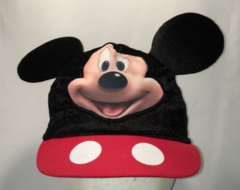 0ef54693320 Vintage Mickey Mouse Hat Funny Disney Stretch Fit Youth Kids Hats Gifts  T112 D8019