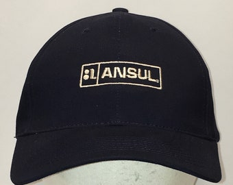 8a42582283c20 Ansul Strapback Hat Navy Blue White Baseball Cap Dad Hats For Men T33 AG8111