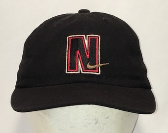 a5c1b908 Vtg 90s Nike Hat Black Red Gold Swoosh Baseball Cap Fishing Hiking Outdoor  Sports Caps Unstructured Low Profile Snapback Hats T41 MA9080