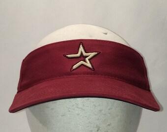 Visor Hat Houston Astros Hats For Men Nike Visors Brick Red Beige Cotton  MLB Baseball Caps T104 N8041 589f097520e