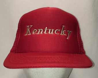 16355079119b5 Kentucky Trucker Hat Red Beige Foam Front Mesh Back Snapback Hats Cool  Dads Mens Gifts T105 N8190