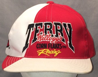 815d56d07f7 Vintage NASCAR Snapback Hat Caps Car Racing Baseball Cap Hats For Men Red  White Sports Dad Hat Terry Kelloggs Corn Flakes Hat T85 MA8021