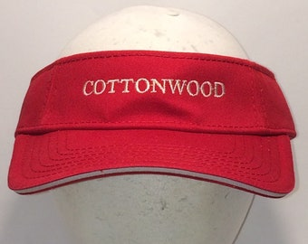 fc9b1bd77c24b Vintage Sun Visor Hat Caps Red White Golf Visors Hats For Cool Cotton  Adjustable Strap Back Cottonwood Sports Cap T64 MA8019