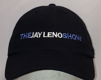 b6968dc5a57 Vintage Jay Leno Show Hat Black White Blue Baseball Cap Cool Guy Gifts Caps  For Men Dad Hat T19 JL8125