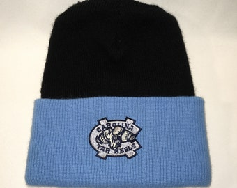 04856be7e37 University of North Carolina Tar Heels Beanie Hat Winter Hats For Men  Vintage Made In USA Black Blue White Skull Caps T104 N8040