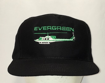 bdc5bbf0 Evergreen Helicopter Vintage Snapback Baseball Cap Black Green White  Aviation Aircraft Airplanes Caps Hats Unique Gifts For Men T91 MA9085