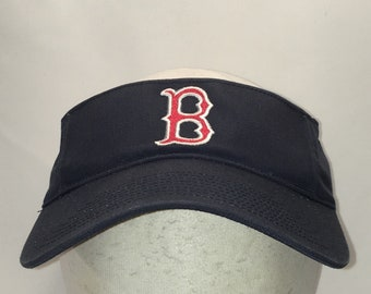 20a8a43ec4a Vintage Boston Red Sox Visor Hat MLB Baseball Cap Blue Red White Mens  Visors Cool Summer Sports Caps Dad Hats Gifts For Men T22 F9027
