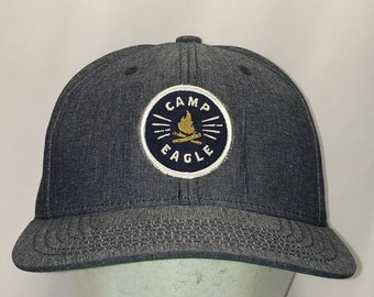 ad4be49d637 Vintage Snapback Camp Eagle Hat Dad Cap Gray Blue Trucker Hats For Men Gifts  T34 S8102