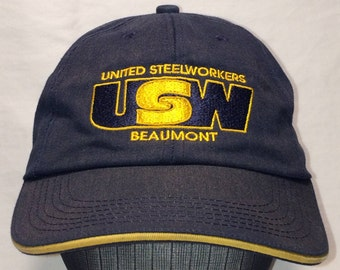 7b1bdbc8cf9eb United Steelworkers Hat USW Made In USA Baseball Cap Vintage Hats For Men  Gift Caps T95 D7118