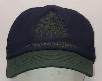 829bf85421e Vintage Snapback Hat Men Baseball Cap International Paper Ball Caps Green  Blue Pine Trees Nature Hat Snap Back Hiking Fishing Hats T4 OC7179