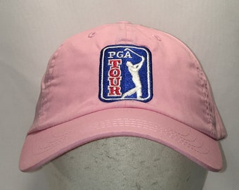 9f950439745 Vintage PGA Tour Golf Hat Cool Womens Hats Pink Blue Baseball Cap Golfing  Mom Caps For Women Gifts T13 F9012