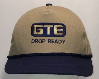 e7e40c10b5160 Vintage Snapback Hat Baseball Cap Made In USA Hats For Men GTE Drop Ready  Ball Cap Khaki Beige Blue Dad Hat Fishing Hats T1 A8148