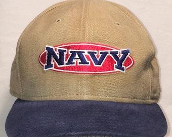 3e2319e2adc Vintage New Era Baseball Cap Navy Snapback Hat Brown Blue Hats For Men  Brown Blue Caps T53 J8008