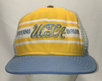 0fa77c20b94fa Vintage UCLA Bruins Snapback Hat Blue Gold White Mesh Baseball Cap NCAA  College Hats For Men University of California Los Angeles T16 F9017